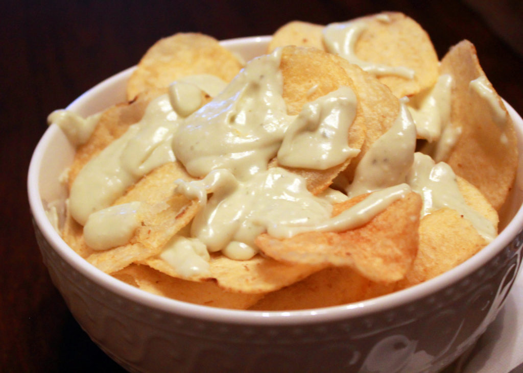 bleu cheese fondue chips